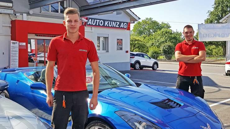 Auto Kunz-Team gratuliert Cyrill Maurer und Dominik Rey zur bestandenen LAP.