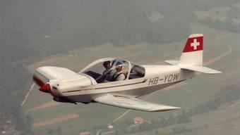Ein Eigenbau-Flugzeug im Reiseflug: Brändli BX-2 Cherry.