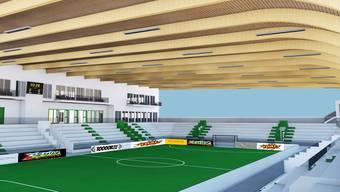 Visualisierter Innenraum Ballsport-Center Olten