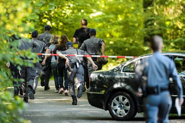 Die Leiche von Adeline M. wurde in einem Waldstück in Versoix bei Genf gefunden