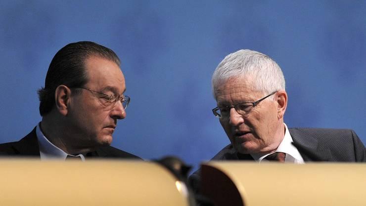 UBS-Spitze: CEO Oswald Grübel und VR-Präsident Kaspar Villiger.