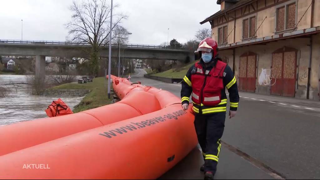 Hochwasser und Überschwemmungen: Erste Sicherheitsmassnahmen wurden getroffen