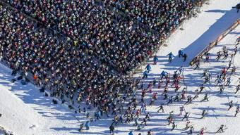 Der Engadiner Skimarathon findet zum 50. Mal mit einer Rekord-Teilnehmerzahl statt