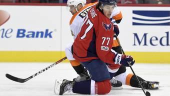 Mark Streit wurde übers Wochenende in der NHL in die Knie gezwungen
