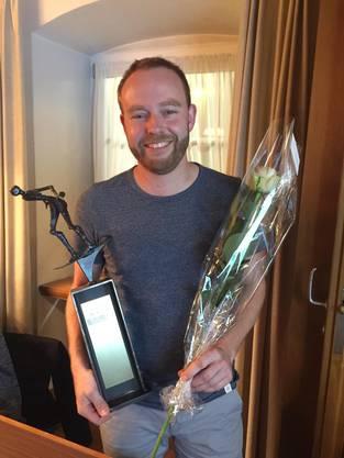Dominik Leubin - mit neuem Pokal