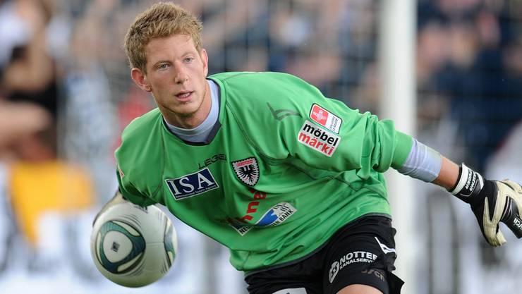 Vor zwei Jahren trug Sascha Studer noch das Dress des FC Aarau. Jetzt hält er Bälle für den deutschen Drittligisten SV Babelsberg 03. Wagner