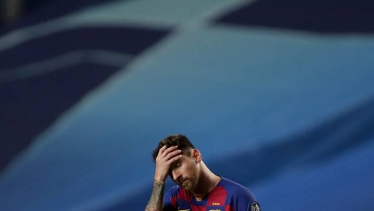 Auf Tauchstation: Lionel Messi ist in Barcelona derzeit abgetaucht, während andere seine Zukunft regeln wollen