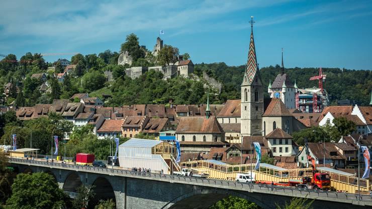 In Baden darf in der Innenstadt im ganzen Monat August kein Wahlkampf betrieben werden. So will es die Stadtkanzlei.