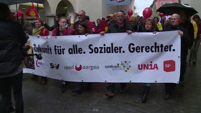 Auch Badener protestieren für Job, Rente und Gleichstellung