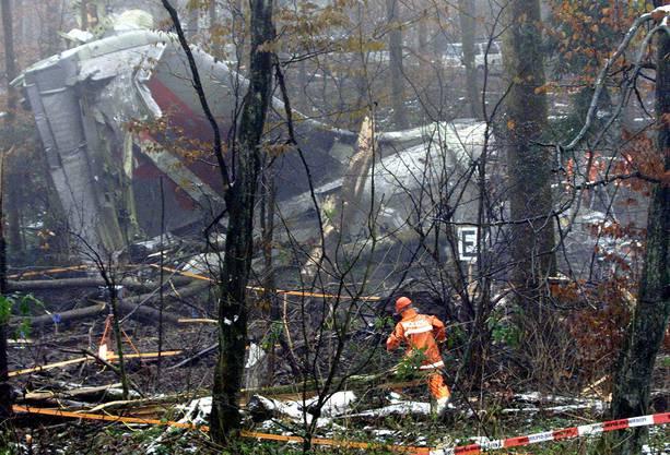 28 Passagiere und 5 Besatzungsmitglieder sassen in der von Berlin her kommenden Unglücksmaschine. Nur neun Personen überlebten den Aufprall.