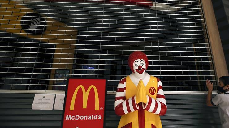Heute war ich bei McDonald's.
