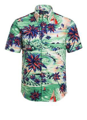 Das klassische Hawaiihemd bringt pazifisches Flair nach Hause. (Polo Ralph Lauren, Fr. 136–.)