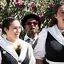 Ein Jodler-Chor aus Saas-Fee am Westschweizer Jodlerfest dieses Wochenende in Yverdons-les-Bains.
