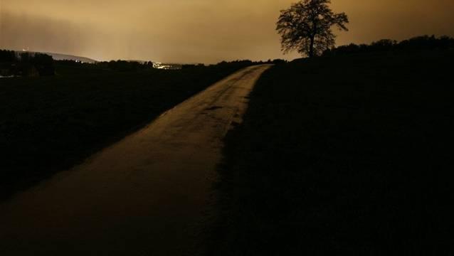 Lichtverschmutzung: Aprilhimmel über der Region Zürich, gegen 22 Uhr.