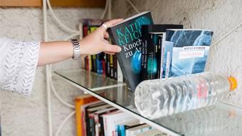 In Scherz steht eine kleine Bibliothek an einem ungewöhnlichen Ort SAN
