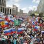 Proteste in Moskau.
