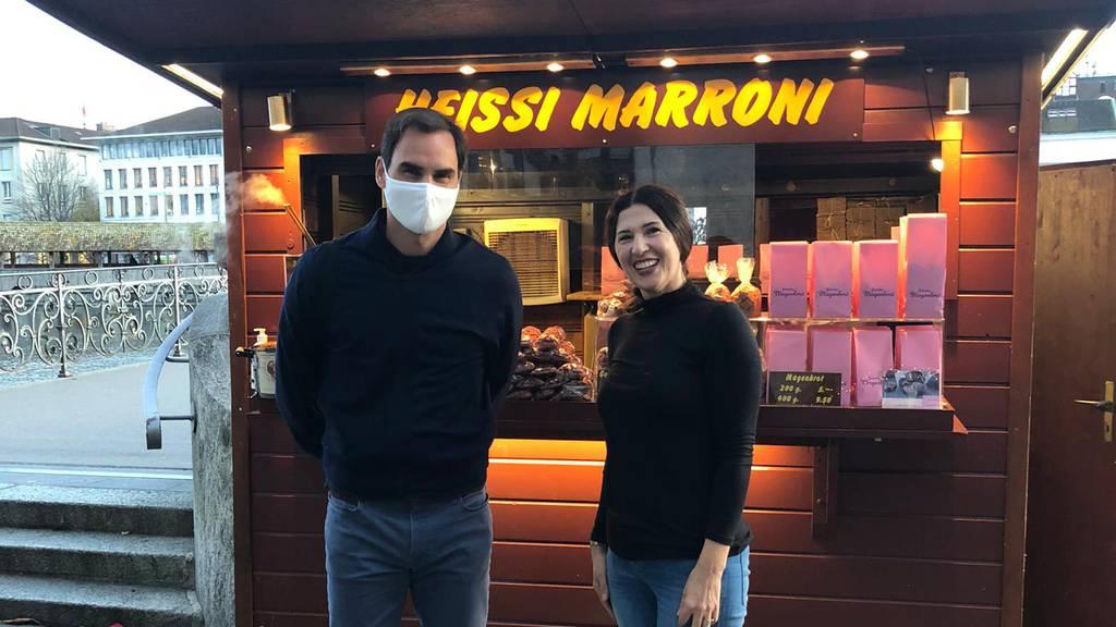 Roger Federer ist in Luzern und nimmt sich Zeit für Fotos