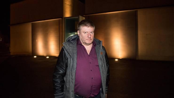 6. Dezember 2018: Ignaz Walker vor dem Gefängnis Grosshof in Kriens.