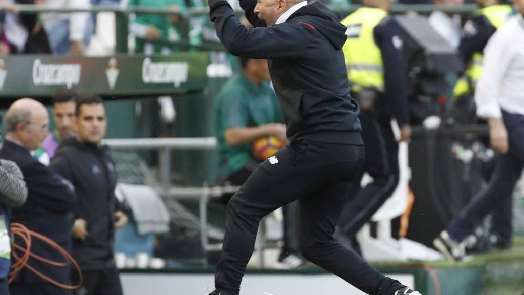 Jubelt Sevillas Trainer Jorge Sampaoli auch heute Abend?