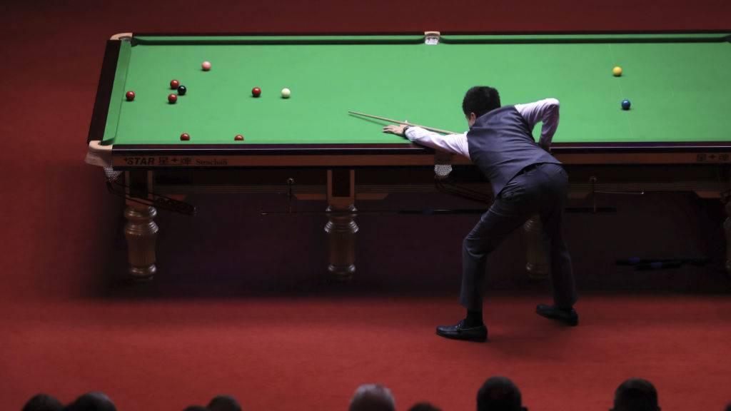 Alexander Ursenbacher ist der erste Schweizer an einer Snooker-WM