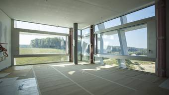 Die Arbeiten am Spital-Neubau haben sich von der Hülle ins Innere verlagert.