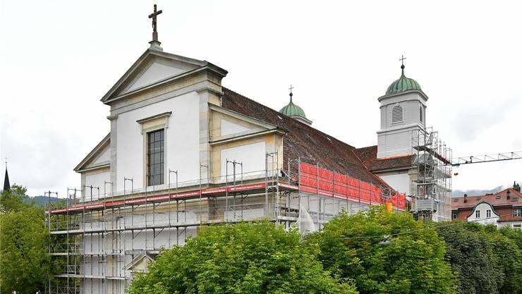 Die Aussensanierung der Stadtkirche ist bald abgeschlossen.