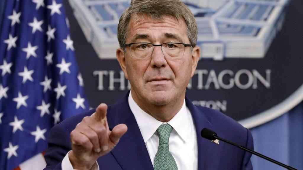 US-Verteidigungsminister Ash Carter: Sein Departement hat den Tod eines hohen Al-Kaida-Anführers in Afghanistan verkündet. (Archivbild)