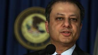 US-Staatsanwalt Peet Bahrara an einer Medienkonferenz zum Fall Liberty Reserve