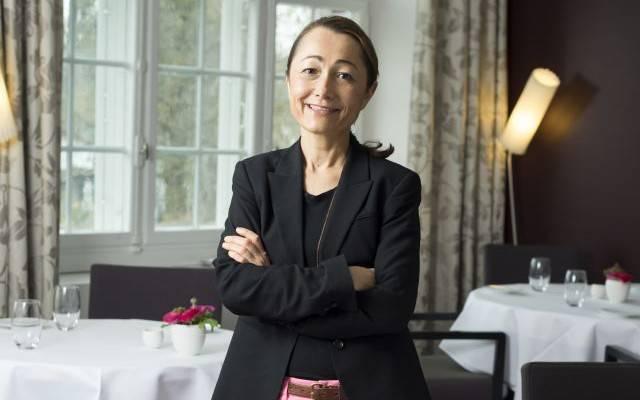 Spitzenköchin Tanja Grandits in ihrem Restaurant Stucki in Basel: «Bei uns gibt es keinen Dresscode.»