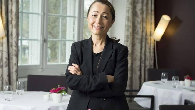 Spitzenköchin Tanja Grandits in ihrem Restaurant Stucki in Basel: «Bei uns gibt es keinen Dresscode.» Foto: Alex Spichale