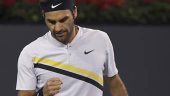 Roger Federer ist auch in Indian Wells nicht zu stoppen. Im Halbfinal trifft er am Samstag auf Aussenseiter Borna Coric (ATP 49).