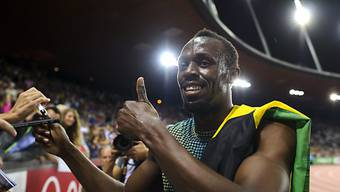 Usain Bolt gewann in Brüssel die 100 Meter in starken 9,80 Sekunden
