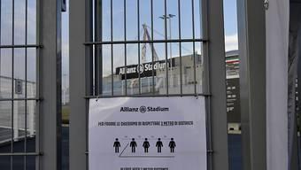 In Italien werden die Trainingszentren gewisser Fussballklubs ab Montag für individuelle Trainings wieder geöffnet