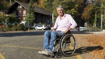 Treffen mit Karl Emmenegger, um zu testen, wie einfach/schwer es ist, in den Bus einzusteigen und wie die Situation für behinderte und eingeschränkte Personen ist. (17. Oktober 2018)