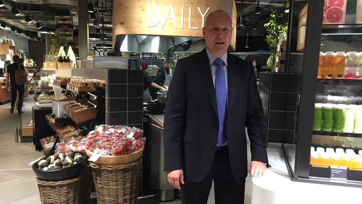 Migros-Manager Anton Gäumann im ersten «Migros Daily» in der «Welle 7».