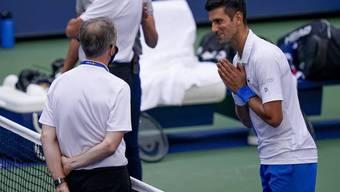 Novak Djokovic fleht Sören Friemel an, ihn nicht so hart zu bestrafen.
