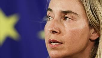 Die EU-Aussenbeauftragte Federica Mogherini fordert von den Israelis und Palästinensern Schritte in Richtung einer Zwei-Staaten-Lösung. (Archiv)