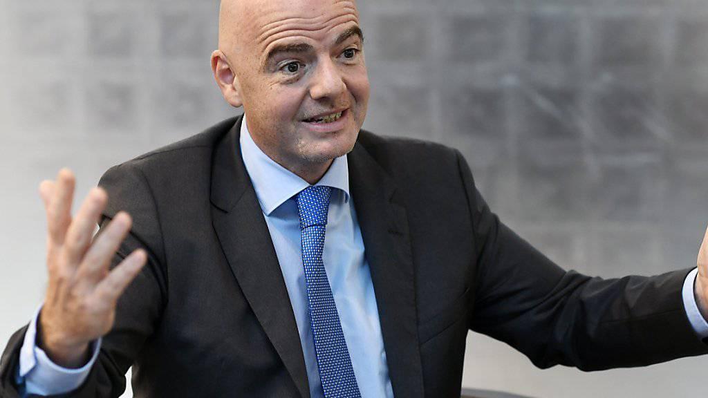 FIFA Präsident Gianni Infantino hat grosse Pläne im Kopf
