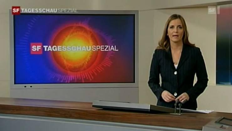 «Tagesschau»-Moderatorin Catherine Mettler während einer Spezial-Sendung
