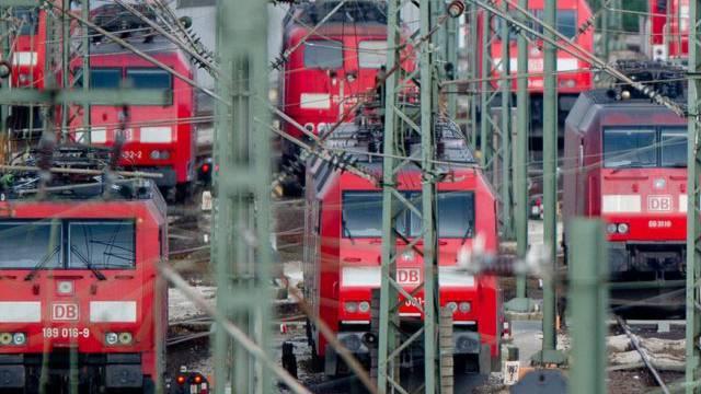 Bereits am vergangenen Montag streikten die deutschen Lokführer