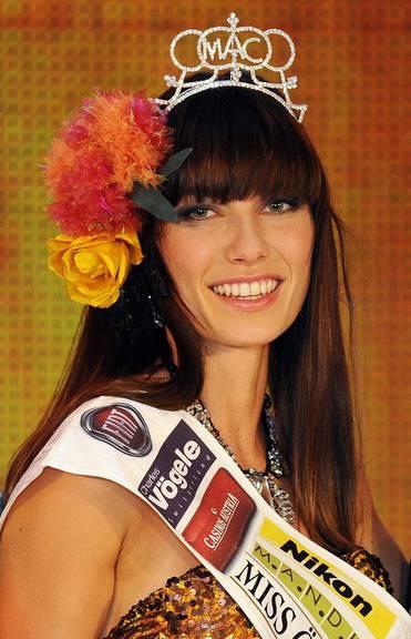 Ena Kadic wurde 2013 zur schönsten Frau von Österreich gewählt. EPA/HANS PUNZ
