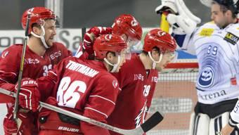 Lausanne bejubelt einen Powerplay-Treffer