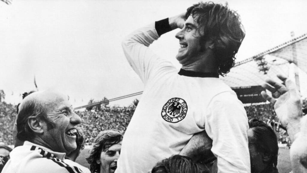 Gerd Müller schoss unter anderem das 2:1-Siegtor im WM-Final 1974 in München.