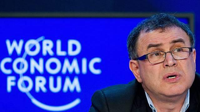 US-Wirtschaftsprofessor Nouriel Roubini in Davos
