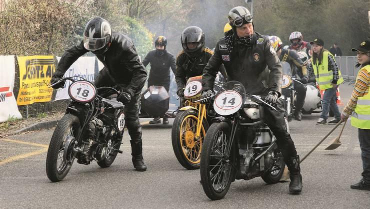 Historische Renn-Motorräder am Start: Auch davon werden ein paar besonders schöne Exemplare am Mutschellen vertreten sein. zvg