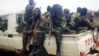 Kongolesische Rebellen in der Nähe von Gomo (Archivbild)