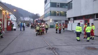 Glück gehabt: Die Feuer- und Chemiewehr musste am Dienstag vor allem abklären und messen. (ZVG/Polizei BL)