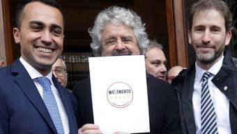 Luigi Di Maio und Beppe Grillo (von links).