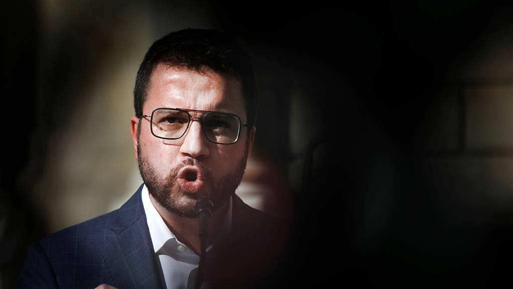 Pere Aragonés, Vizepräsident von Katalonien und Kandidat der katalanischen Regionalpartei ERC.
