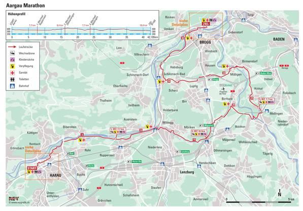 Aargau Marathon: Die Strecke